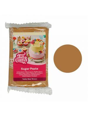 FunCakes Sugar Paste Teddy Bear Brown - Nallekarhun ruskea sokerimassa, 250g.