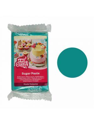 FunCakes Sugar Paste Mystic Turquoise - Turkoosi sokerimassa, 250g.