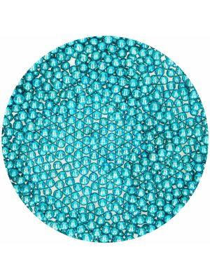 FunCakes Sugar Pearls Metallic Blue - Metallinsiniset sokerihelmet, 70 g.