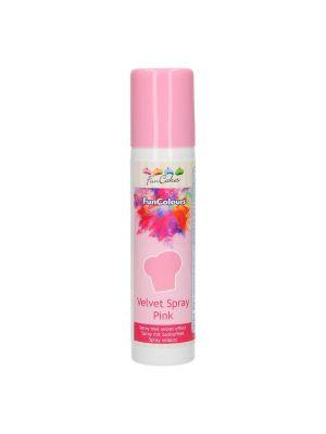 FunCakes Velvet Spray Pink - Syötävä Suklaaspray - Vaaleanpunainen.