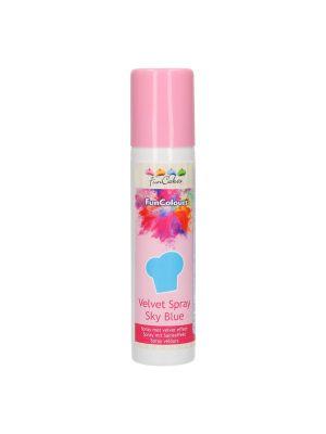 FunCakes Velvet Spray Sky Blue - Vaaleansininen suklaaspray.