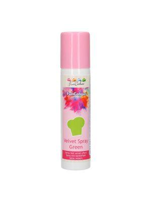 FunCakes Velvet Spray Green - Vihreä Suklaaspray.