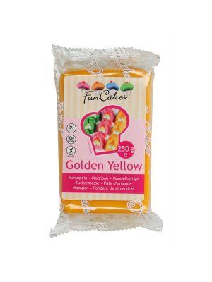 FunCakes Marzipan Golden Yellow - Kullankeltainen marsipaani, 250g.