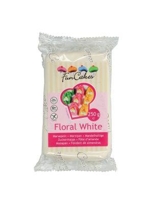 FunCakes Marzipan Floral White - Valkoinen marsipaani, 250g.