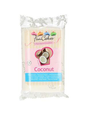 FunCakes kookosmakuinen sokerimassa/fondantti, 250g.