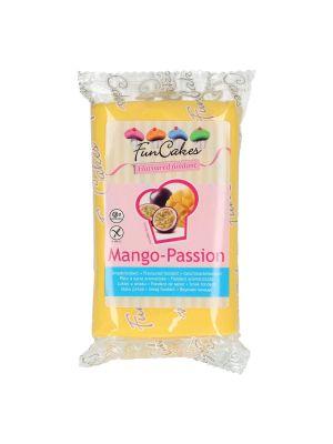 FunCakes mangon- ja passionmakuinen sokerimassa/fondantti, 250g.