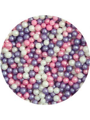 Scrumptious Glimmer Pearls Ice Pink - Syötävät pienet helmet, 80g.