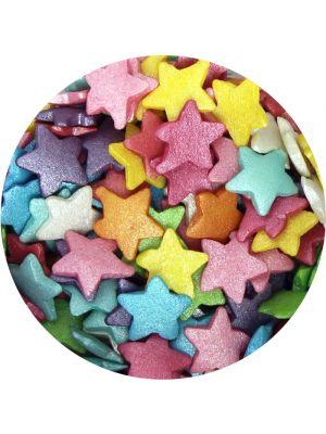 Scrumptious Glimmer Rainbow Stars - Tähti -muotoiltu koristerae.