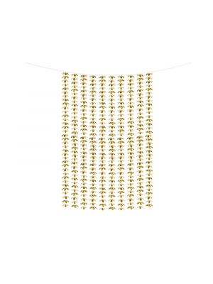 Kultainen taustaverho kukilla 1m x 2,1 m.
