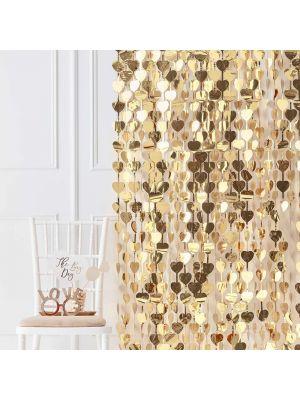 Taustaverho, Kultaiset Sydämet, 250x100cm