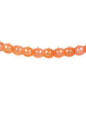 Halloween oranssinvärinen kurpitsa koristeviiri.