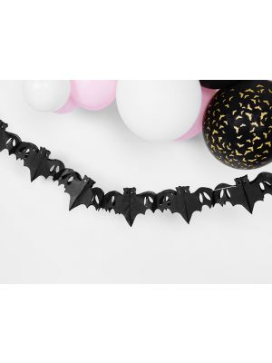 Musta halloween lepakko-viiri, 4 m.