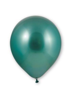 Vihreät kromi-ilmapallot, 10 kpl.