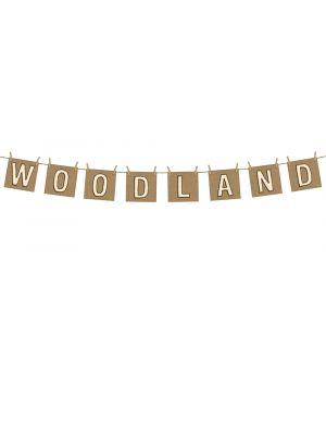 """WOODLAND"" -koristebanneri ripustusnarulla."
