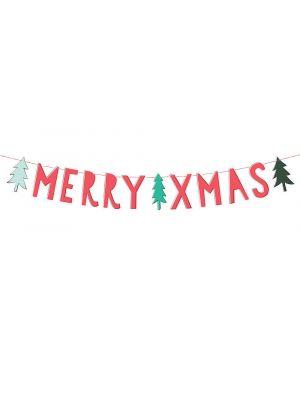 Joulubanneri Merry Xmas, 1,2m