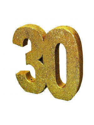 Upea kulta-glitteri pöytäkoriste numero 40.
