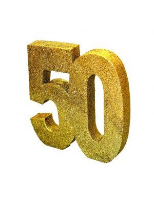 Pöytäkoriste, nro 60, Kulta-glitteri