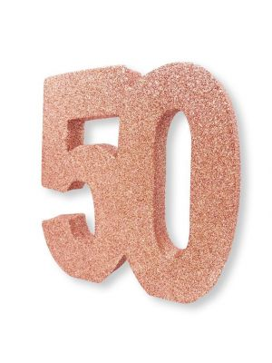 Pöytäkoriste, nro 50, Ruusukulta-glitteri