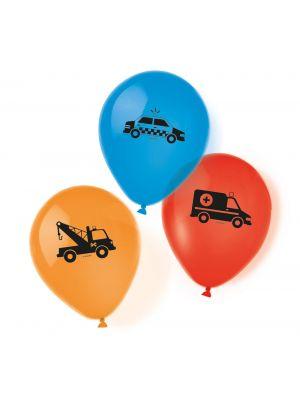 Autoaiheiset ilmapallot, 6 kpl.