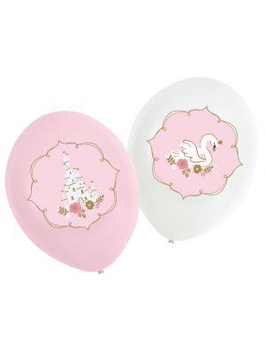 Prinsessa-aiheiset ilmapallot, 6 kpl.
