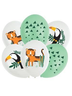 Ilmapallot, Viidakko, viidakon eläimet 6kpl