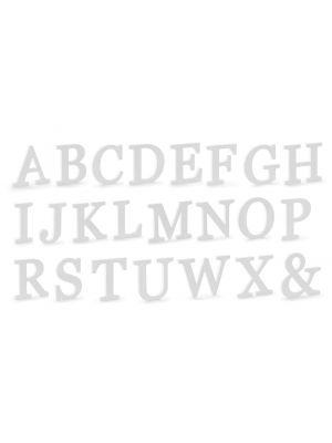 Isot Puiset Kirjaimet 20cm - Valkoiset