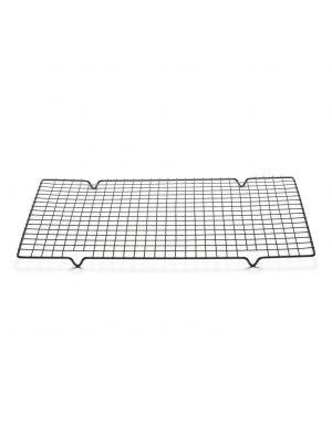 Patisse:n musta metallinen jäähdytysritilä, 40 x 25 cm.