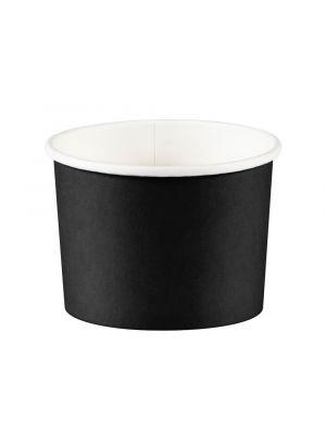Mustat jäätelökipot / herkkukipot, 8 kpl.