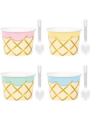 Jäätelökupit, Pastelli, 8kpl