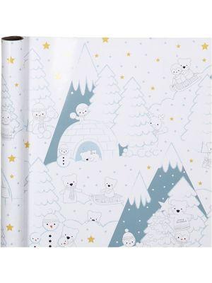 Lahjapaperi - Arktinen Joulu, 70cmx4M