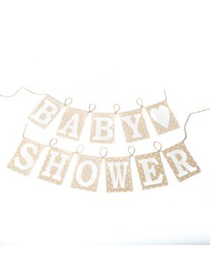 Pellavabanneri Baby Shower, 2,5M