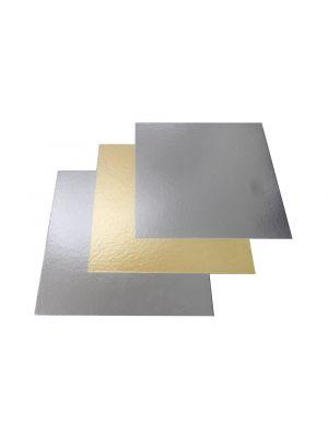 Kakkualusta neliö - kulta/hopea, 3 kpl