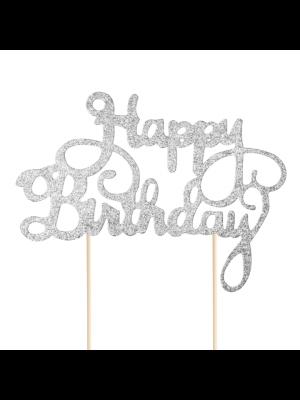 Kakkukoriste, Happy Birthday, Hopea Glitteri