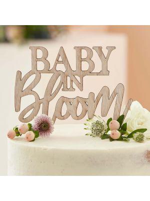 Puinen Kakkukoriste - Baby in Bloom