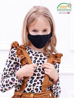 Lasten kasvomaski, kangasmaski, musta.