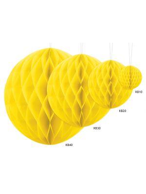 Keltainen paperikoriste hunajakenno honeycomb.