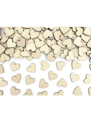 Puiset sydämenmuotoiset konfetit, 50 kpl. Pöytäkoristeluun tai askarteluun.