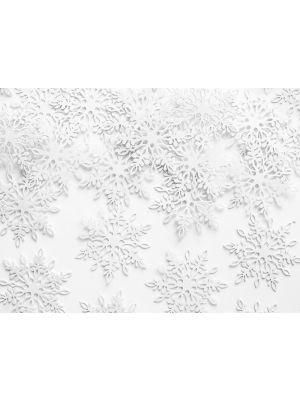 Valkoiset lumihiutaleet, konfetit, 20 kpl.
