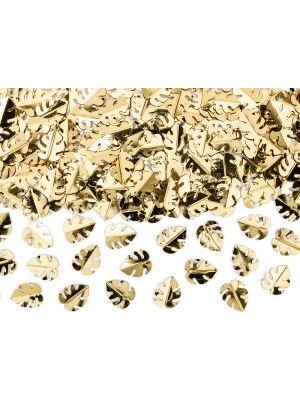 Metallinhohtoiset lehdenmuotoiset konfetit, 15 g.