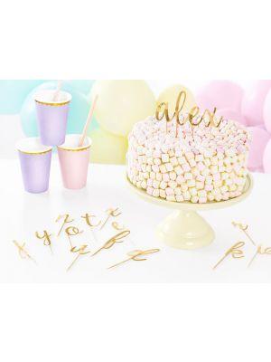 Kakkukoristetikut, kirjaimet a-z