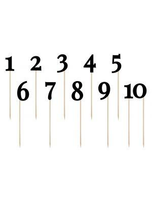 Numerotikut 1-10 Musta