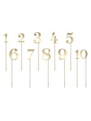 Numerotikut 1-10 Kulta