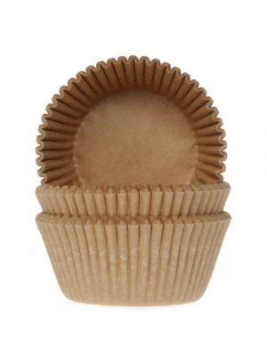 Luonnonväriset kartonkiväriset muffinivuoat, 50 kpl.