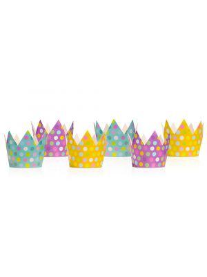Ihana setti prinsessan kruunuja, 6 kpl.