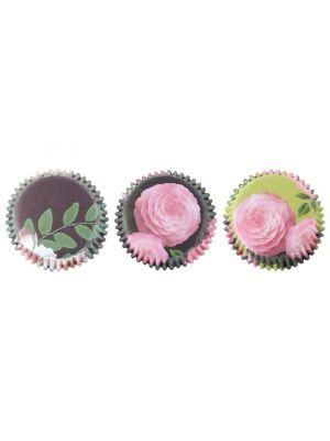 Folioidut PME:n muffinivuoat kukka-kuvioilla, 60 kpl.