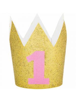 Kultaglitteri-kruunu numerolla yksi, 1-v juhliin