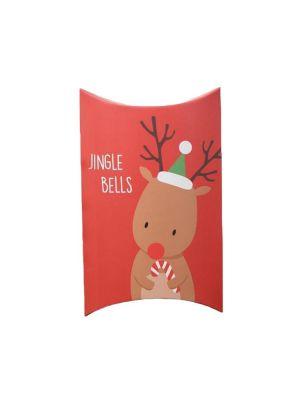 """Joulurasia poron kuvalla ja tekstillä """"Jingle Bells""""."""