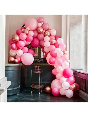 Iso Ilmapallokaari Luxe Vaaleanpunainen-Ruusukulta