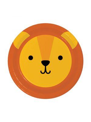 Pienet pahvilautaset, Leijonan kasvot, 17 cm, 8kpl
