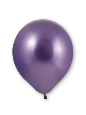 Violetinväriset kromi-ilmapallot, 10 kpl.